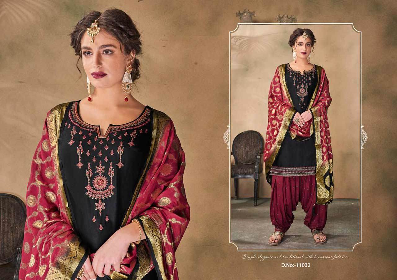 Pure Jam Silk with Inner and Khatli Embroidered Work