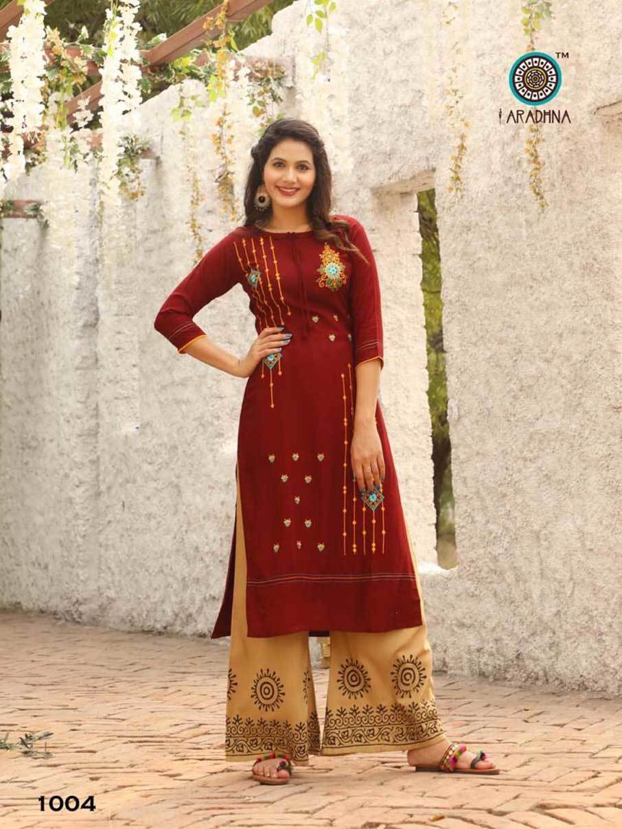 Heavy Rayon with Embroidery Work Manual Work