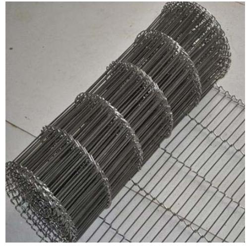 N Shaped Stainless Steel Conveyor Belt