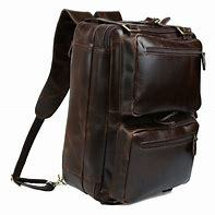 leather laptop back pack