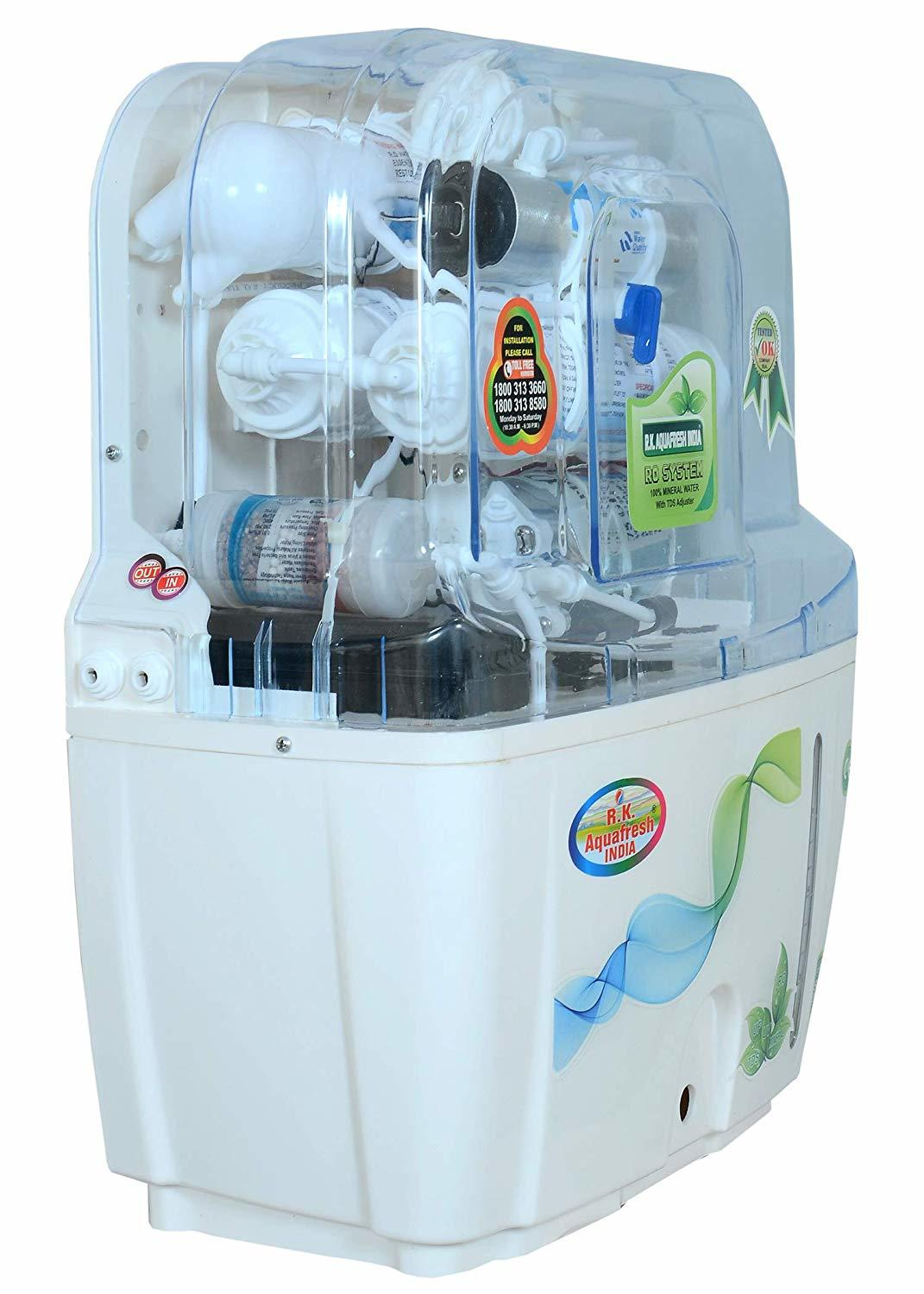 R.K. AQUA FRESH INDIA White Ultra Advanced 12 Ltrs 14 Stage RO Water Purifier