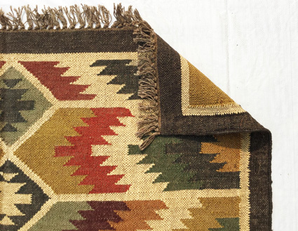 Kilim Wool Jute Carpet