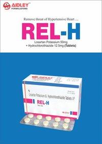 Losartan Potassium 50mg + Hydrochlorothiazide 12.5mg Tablet