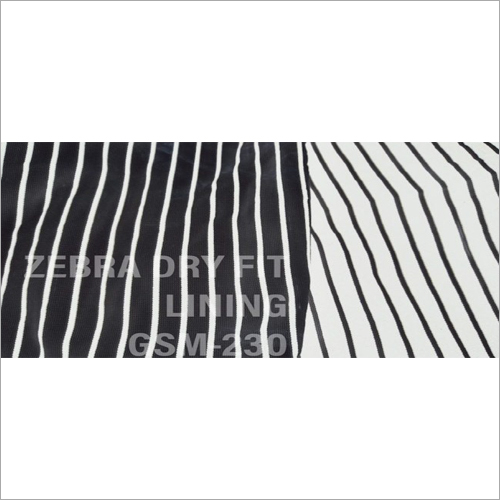 Zebra Dry Fit Lining Fabric