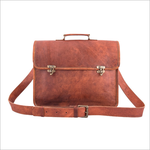 Brown Leather Messenger Side Bag