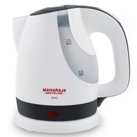Maharaja Whiteline Viva 1-Litre Kettle (White/Black)