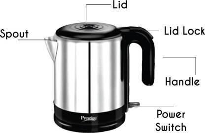 Prestige PKMSS 1.2 (41589) Electric Kettle  (1.2 L, White, Black)