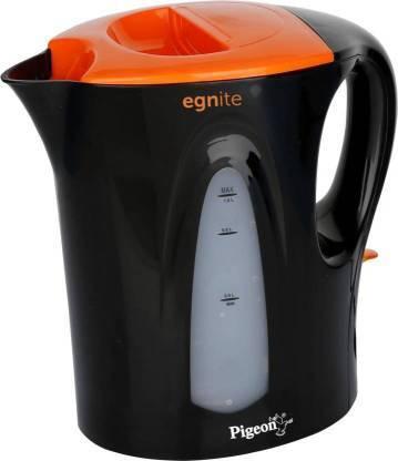 Pigeon EGNITE 1 LTR. Electric Kettle  (1 L, Black, Orange)