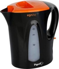 Pigeon EGNITE 1 LTR. Electric Kettle  (1 L, Black, Orange)