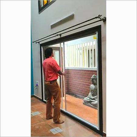 Retractable Roller Double Door System