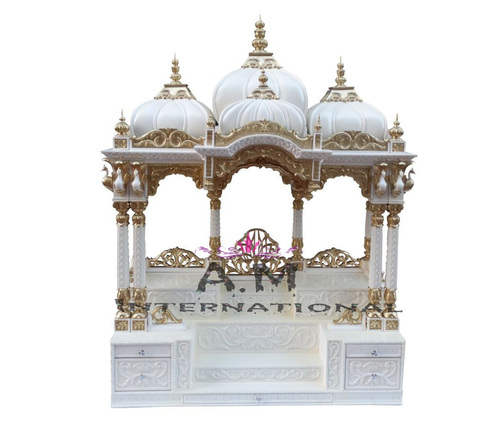 white deco wooden temple
