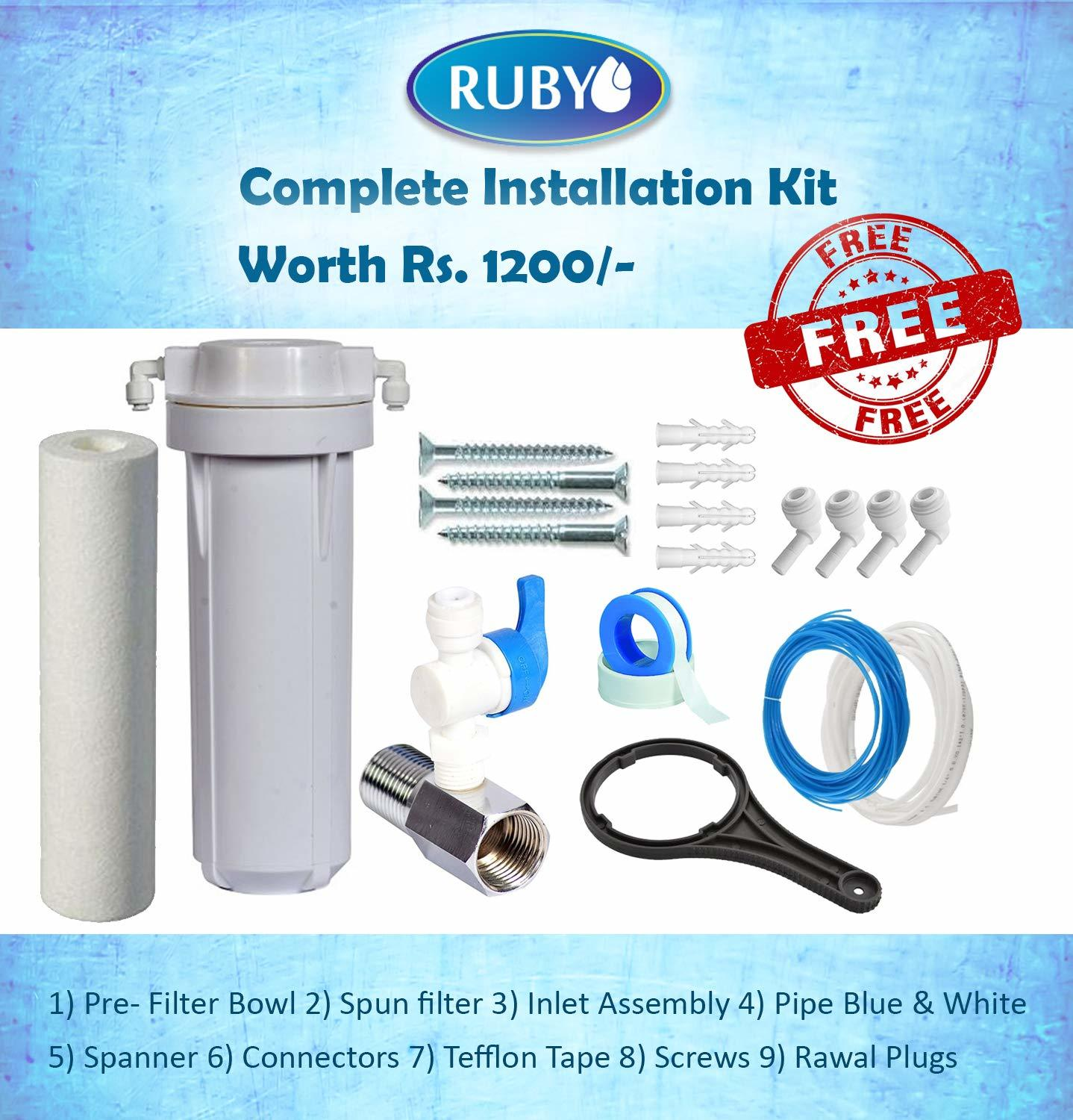 Ruby Economical RO with Alkaline 5 Stage Purification Electric Water Purifier 12 liters Storage Capacity Tank