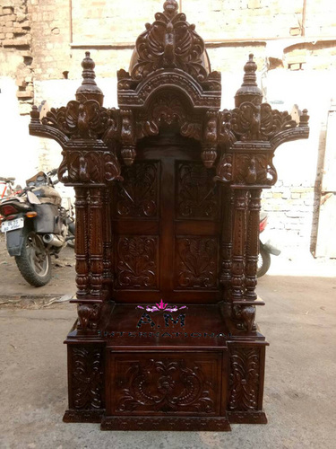 hand made carved wooden temple