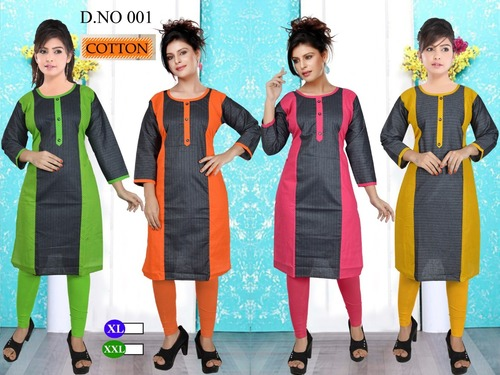Ladies smart cotton kurti