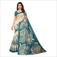 PRINTED KALAMKARI SILK SAREE FOR LADIES