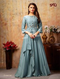 Fancy Long Gown Kurti