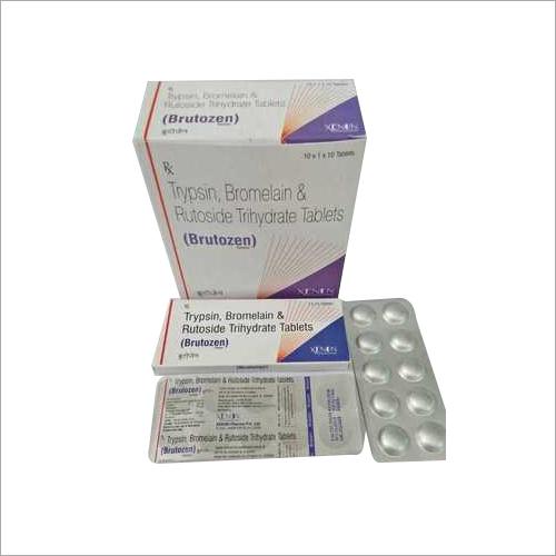 Tripsin, Bromelain & Rutoside Trihydrate Tablets