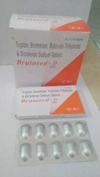 Trypsin, Bromelain, Rutoside Tryhydrate & Diclofenac Sodium Tablets