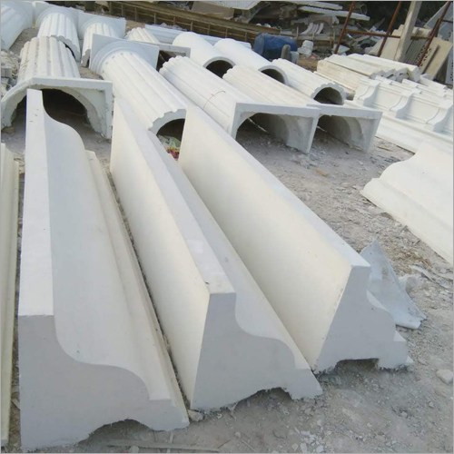 GRC White Cement Cornice