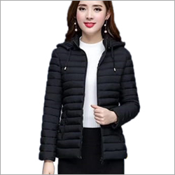 Ladies Puffer Hooded Jacket