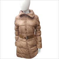 Ladies Long Padded Belt Jacket