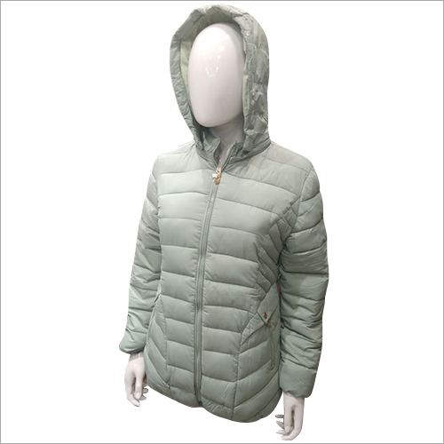 Ladies Full Sleeve Padded Solid Jacket