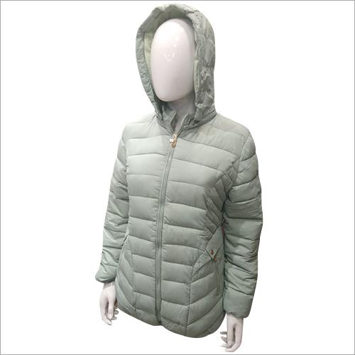 Ladies Full Sleeve Padded Solid Jacket