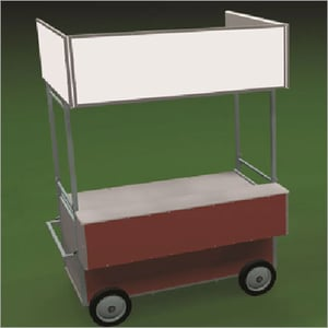 MS Mobile Fast Food Cart