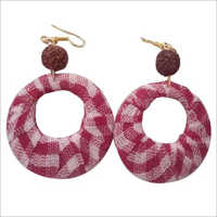Ladies Handmade Jute Earrings
