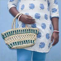 Ladies Braided Jute Handbag