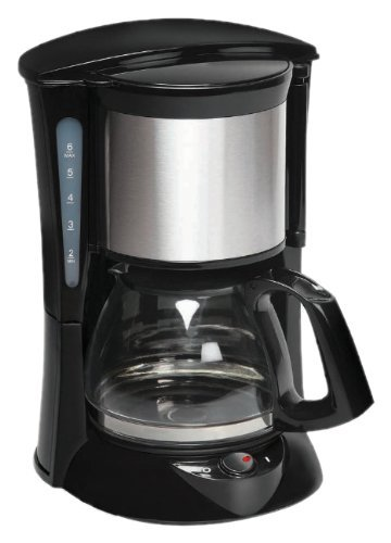 Havells Drip Café 6 0.65-Litre 600-Watt Stainless Steel Coffee Maker (Black)