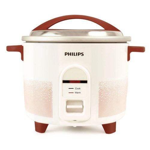 Philips HL1662/00 1-Litre Electric Rice Cooker (White/Red)