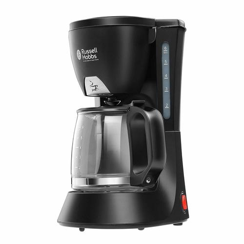 Russell Hobbs RCM60 – 600 Watt Drip Coffee Maker with Carafe and permanent filter with 2 Years Warranty