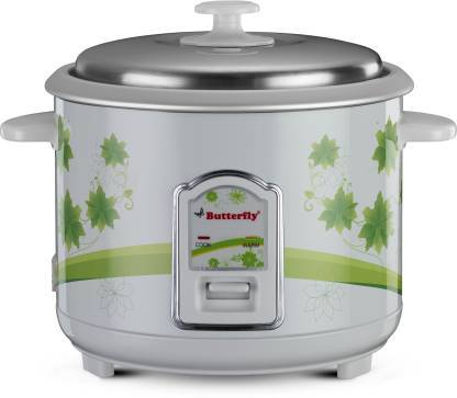 Butterfly JADE Electric Rice Cooker  (1.8 L, White)