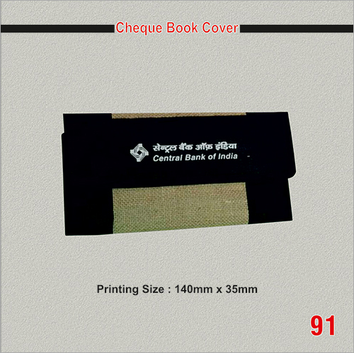 Promotional Cheque Book Cover