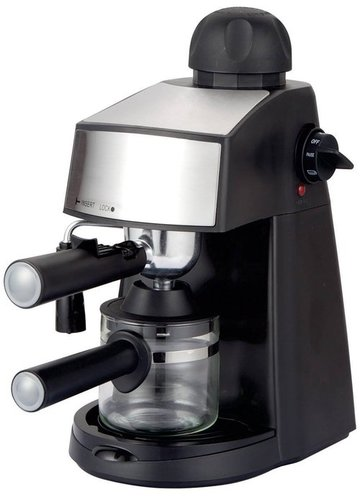 Russell Hobbs RCM800E 800 W Espresso and Cappuccino Maker Machine, 240 ml (Black)