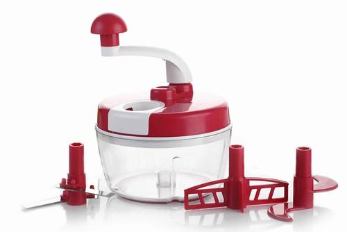 Manual Food Processor Atta/Dough Maker, Vegetable Cutter, churner/Beater with Dual Speed