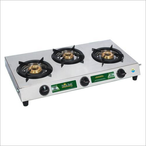 Surya Jyoti CXJ-31, Three Burner LP Gas Stove