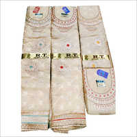 Ladies Cotton Jacquard Unstitched Suit