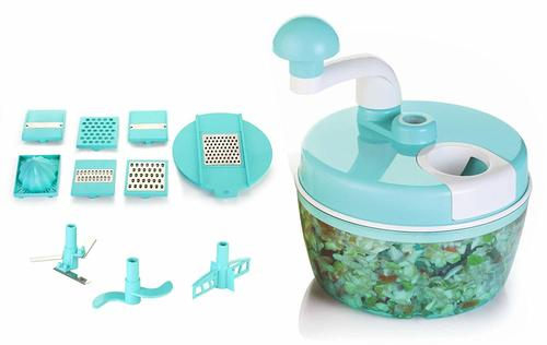 Food Processor Multipurpose Chopper, Grater, Slicer, Blue