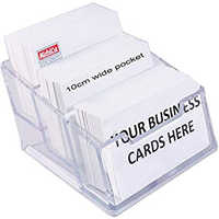 Kebica 3-Compartments Plastic Counter Top Card Holder