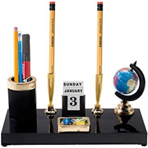 Kebica Decorative Pen Stand with 2 Pen Holder