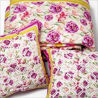 Floral Print Quilt Set