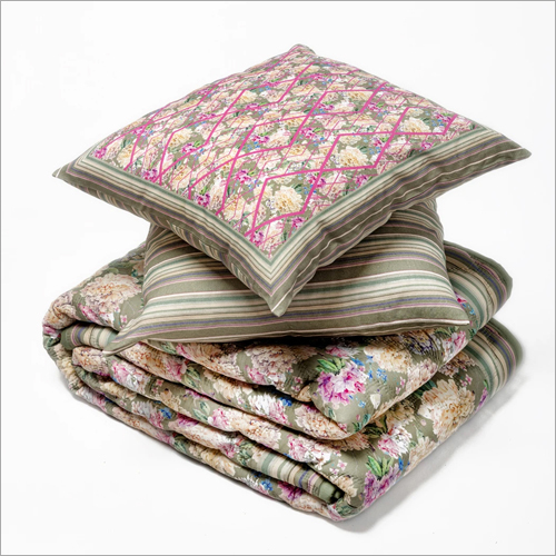 Designer Quilt And Cushion Cover Set