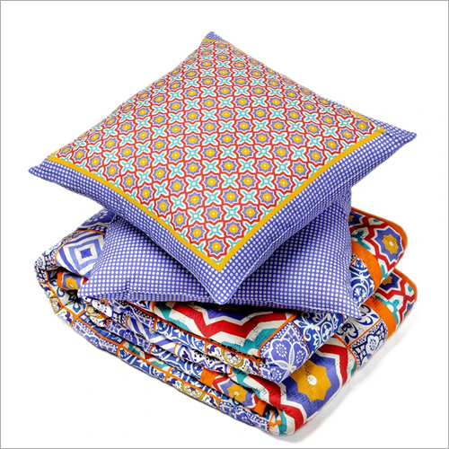 Cotton Quilt And Cushion Cover Set