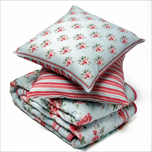 Siliconized Polyester Quilt And Cushion Cover Set