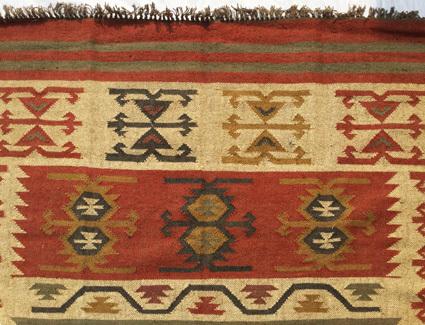 Jute Wool Kilim Rug