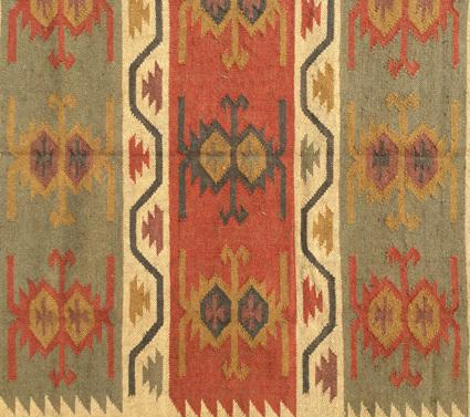 Jute Wool Kilim Carpet