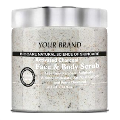 Activated Charcoal Face And Body Scrub