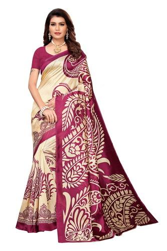 New designer printed kalamkari silk saree